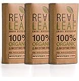 Real Leaf 3 X Pack Bio-Kräuter-Natur Rauchen Mischung 90g gesamt 100% Nikotin und Tabak frei, reich, Aromatisch, feines Aroma und fließenden, natürlichen Geschmack Tabakersatz