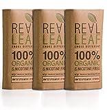 3 X Pack Bio-Kräuter-Natur Rauchen Mischung 120g gesamt 100% Nikotin und Tabak frei, reich, Aromatisch , feines Aroma und fließenden, natürlichen Geschmack Real Leaf Tabakersatz