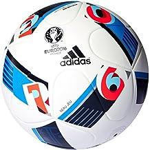 Adidas Beau Jeu EURO16 Balón de fútbol, Primavera/Verano, Color Blanco - White