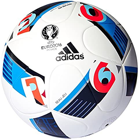 Replique UEFA EURO 2016 adidas-Balón de fútbol, color Blanco - White/Bright Blue/Night Indigo, tamaño