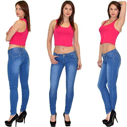 by-tex Jean femme skinny Jean taille basse pantalon en jean femme # S400 Z151
