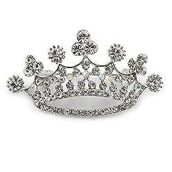 Claro Cristal corona broche...
