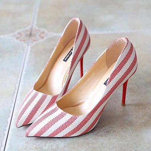FLYRCX Shallowly singola calzatura scarpe da lavoro gules
