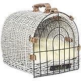 MICHUR PLUTO NORDSEEDÜNE, Hundetransportbox, Katzentransportbox, WEIDE, RATTAN, BOX, KORB, in verschidenen Größen erhältlich