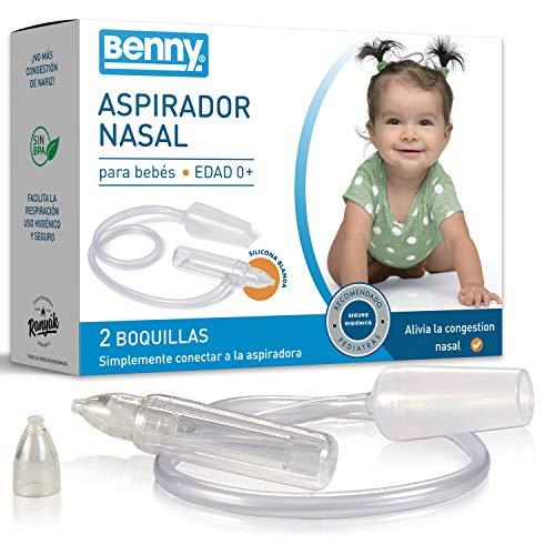 NUEVO: Aspirador Nasal Bebes con regulación automática de la presión - 0% BPA, sin alimentación...