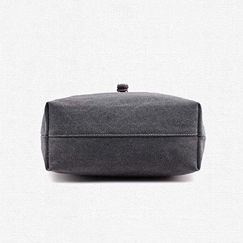 Tela Tote Tempo Libero Shopper Moda Signore Tracolla Messenger In Brossura Handbags Gray