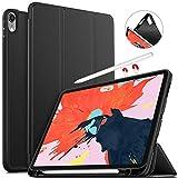 """IVSO iPad Pro 11"""" Custodia Cover Case, Slim Smart Protettiva Custodia Cover in Pelle PU per Apple iPad PRO 11 2018 Tablet, Nero"""