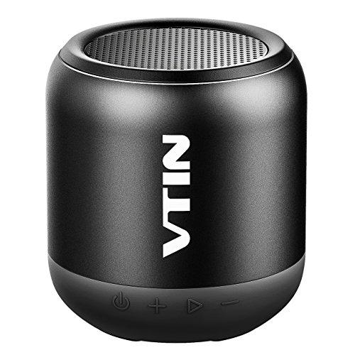 Foto de VICTSING Mini Altavoz Portátil Super, Estéreo Premium 8W con Radiador Pasivo V4.2 20 m de Alcance de Bluetooth y Línea de Graves Potente, Negro, 3.54 x 3.54 x 3.94 Inch