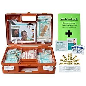 Erste-Hilfe-Koffer Kita incl.Hygiene-Ausstattung nach DIN 13157 für Betriebe + DIN/EN 13164 für KFZ – mit Verbandbuch & Wundreinigung