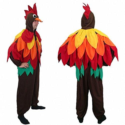 Kostüm bunter Vogel Boby Gr. XL Overall Hahn Fasching Karneval Papagei (Bunter Vogel Kostüme)