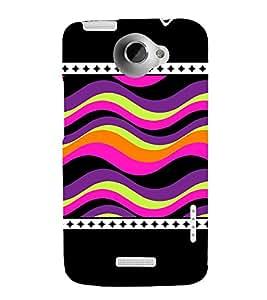 Wave Pattern 3D Hard Polycarbonate Designer Back Case Cover for HTC One X