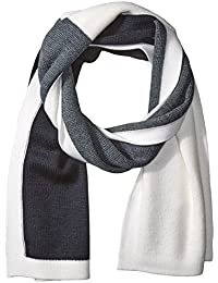 Armani Exchange Men's Color-Block Scarf, Chalk/Black/White/Navy, One Size
