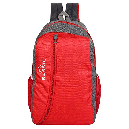 SASSIE-Polyester-31Litres-Red-School-Backpack