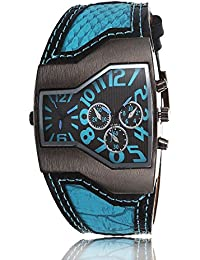 iSweven isweven Spring summer 2016 collection dual time zone quartz watch Analogue Blue Unisex Wrist Watch W1011cc