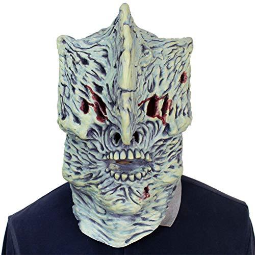 Amosfun Kostüm Maske Terror Devil Latex Vollkopf Leuchtmaske Kleid Party Requisiten für Scary Horrible Theme Party Cosplay Halloween Festival Decor (Gras Maske Zeichnen Mardi)
