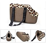 Tping Tragbar Hundetasche Tragetasche Leopard Stil Pet Bag Single Shoulder...