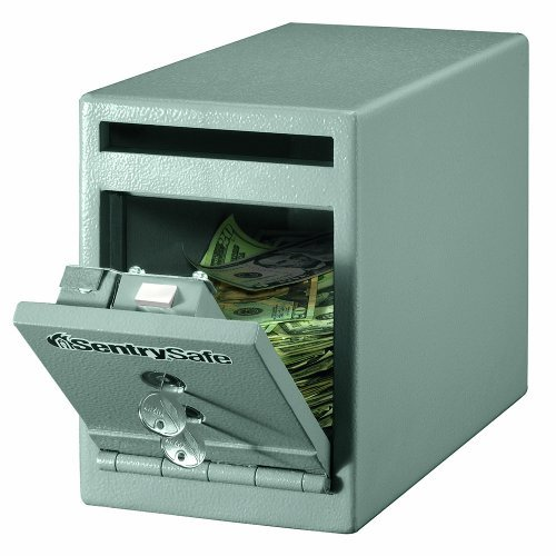 Wholesale CASE of 2 - Sentry Dual Key Lock Under Counter Safe-Safe, Drop Slot, Dual Key Lock, 6x12-3/10x8-1/2, Gray by SEN