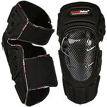 MADBIKE de fibra de carbono motocicleta de rodilleras y coderas almohadillas Protector de motocross