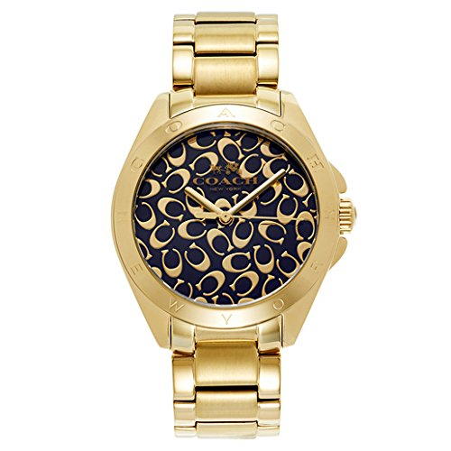 COACH WOMEN'S 37MM STEEL BRACELET GOLD TONE STEEL CASE QUARTZ WATCH 14502348