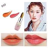 Lingwear Rouge à lèvres bicolore doré,Le brillant de la double couleur or rouge...