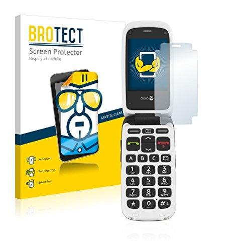 2X BROTECT HD Clear Bildschirmschutz Schutzfolie für Doro PhoneEasy 612 (kristallklar, extrem Kratzfest, schmutzabweisend)