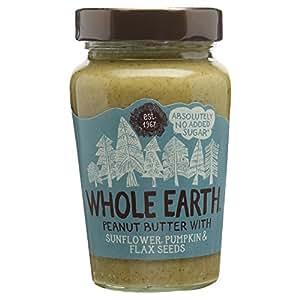 Whole Earth Peanut Butter with Sunflower Pumpkin & Flax Seeds, 340g ...