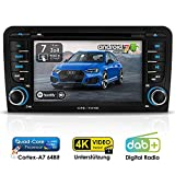 Autoradio Android 7.1.2 CREATONE ARD-7300 für Audi A3 8P (2003 - 2013) inkl. Can-Bus | 2DIN Naviceiver | GPS Navigation| DAB+ DigitalRadio | DVD-Player | Touchscreen 7 Zoll (18cm) | USB bis 4TB l Quad-Core Cortex A7 CPU | 16GB integriert / 2GB RAM | 4K Ultra HD 3840x2160 Video Unterstützung | WLAN | Bluetooth 4.0 (iOS und Android) | MirrorLink | OBD 2 | RDS