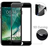 Blaspheme™ IPhone 7 Plus 9H Hardness 5D Tempered Glass Screen Protector, Full Glue Edge-to-Edge 9H Protector - Black