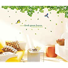 Ruikey Hojas de carne verde Pegatina de pared DIY vinilo extraíble a prueba de agua Art Decal Mural para sala de estar decoración del dormitorio
