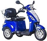 Elektromobil, E-Mobil, Seniorenfahrzeug, E-Dreirad, 25 Km/h, Blau (Blau)