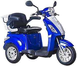 Scooter, E-Mobile, Senior véhicule, E de Tricycle rouge 25 km/h (Bleu)