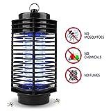 Lampe Anti-moustique NuoYo 11.5 ×26 cm Noir Photocatalyst Zapper Lampe les Meilleures Sécurises et Efficaces lampe par Anti-moustique/ Anti-insectes