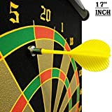 E - Royal Shop® Latest Roll-up Magnetic Dart Board Set 17 inch Double