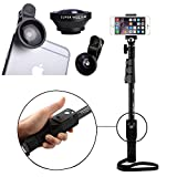 #9: Shopizone® Yunteng YT 1288 Bluetooth Selfie Stick With Wide Angle Mobile Camera Lens Combo For Apple and Android Smartphones