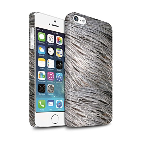 STUFF4 Matte Snap-On Hülle / Case für Apple iPhone 8 Plus / Leopard Muster / Tierpelz Muster Kollektion Gefieder