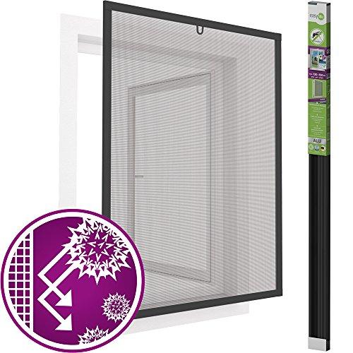 easy life Pollenschutz Alu Fenster ALLERGICpro 130 x 150 cm in Anthrazit Insektenschutz Fenster easyLINE Pollenschutzgitter und Fliegengitter