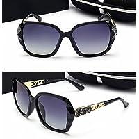 Wkaijc Polarisiert Damen Retro Nagel Meter Persönlichkeit Trendsetter Art Und Weise Elegant Sonnenbrille,B