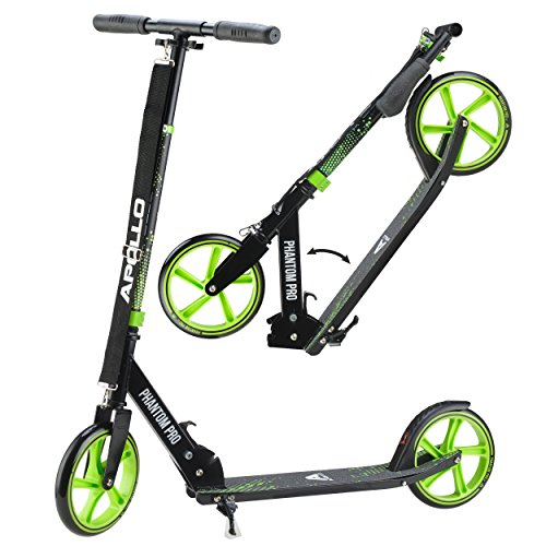 Apollo XXL Wheel Scooter 200 mm - Phantom Pro es un City Scooter de Lujo, City Roller Plegable y Ajustable en Altura, Kick Scooter para Adultos y niños