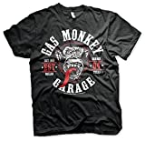 Gas Monkey Garage - Speed Green Wheels T-Shirt (Schwarz) (X-groß)