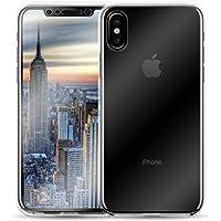 iPhone X Schutzhülle | JAMMYLIZARD 360 Grad Hülle [Orbit] 2-in-1 Komplett-Handyhülle Zweiteiliges Hard Case für Apple iPhone X Edition (2017), Transparent