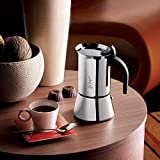 Bialetti Venus 6-Cup Italian Coffee Maker for Induction Hob, Stainless Steel, Silver