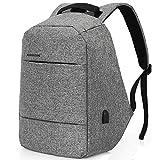 Anti-Diebstahl Rucksack Damen mit USB Charging Port - Studenten Backpack 15.6 Zoll Laptop Rucksack Herren- für 15