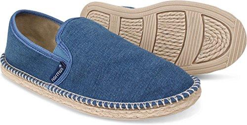 normani Sommer Schuhe - Klassische Espadrillas - Flache Stoffschuhe - Freizeitschuhe für Damen und Herren [Gr. 36-46] Farbe Navy Style 1 Größe 46