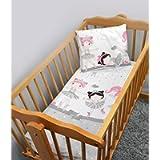 Baby Comfort 2 Piece Duvet Cover & Pillowcase 80x70 cm Set for Crib/Cradle/Pram