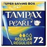 Tampax Pearl Regular Tampons Applicator 18 X 4 Super Saving Box