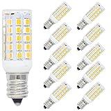 10er Pack E12 5W LED Lampe,400 Luman,44x2835 SMD,Warmweiß 3000K