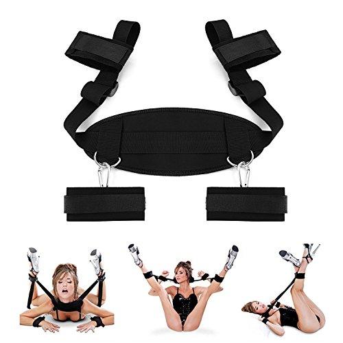 Dulexo BDSM Sex Bondage mit Seile Handschellen Fußfesseln Bett Sets (2)