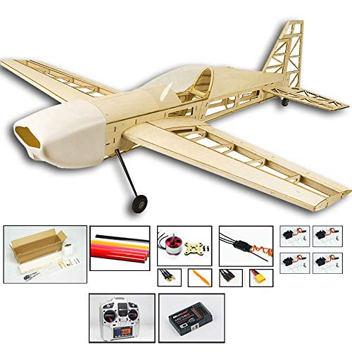 Dw hobby 2019laptop extra330rc aereo kit per costruire, 1000mm wingspan laser cut balsa legno modello aereo, elettrico radiocomandato aereo volare aeromodelli kit per adulti