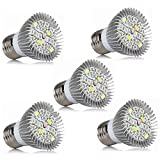 SCSY-Lampadine 5pcs principale coltiva la lampadina delle luci, coltiva le piante dell'interno delle luci, coltiva la lampada hydroponics serra organica, luci della pianta (E27 5W), AC85-265V