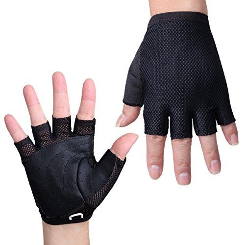 Gewichtheben Sport Halbfinger Männer Und Frauen Draußen Rutschfest Fahrrad Fitness Handschuhe,XL